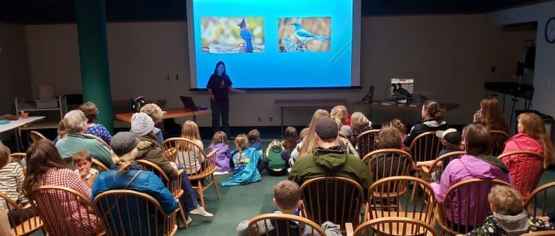 Rose Britton teaching bird class